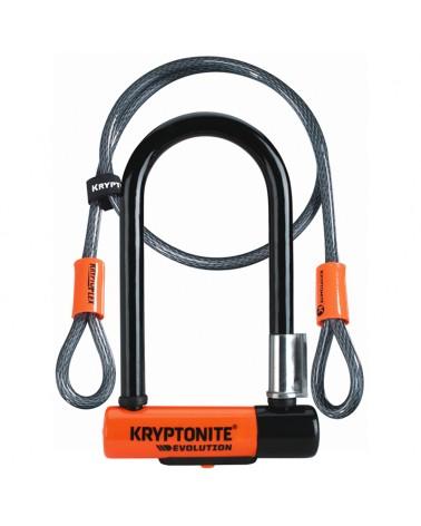 Kryptonite U-Lock Evolution Mini-7 Lucchetto Bici con Cavo
