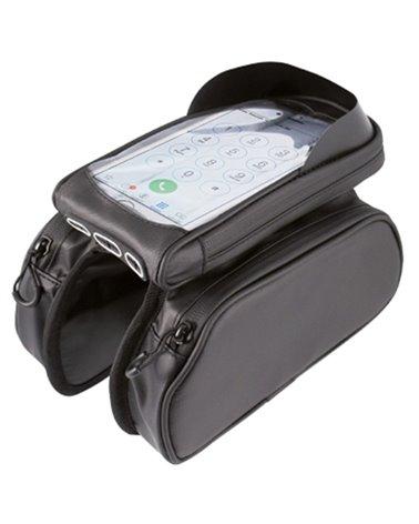 WAG Borsa Impermeabile Tubo Orizzontale con Porta Smartphone 18x9x3,5cm Removibile, Nero