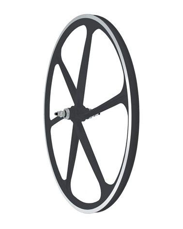 RMS Alloy Front Wheel Fixed, Profile 30mm, 6 Spoke, Black