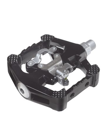 Wellgo Dual Function Pedals, Spd System, Magnesium Body, Cr-Mo Spindle, Black.
