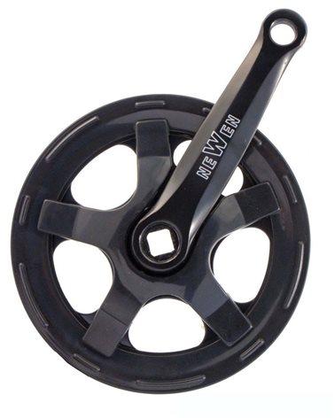Prowheel Crank 36X127 Black Steel With Chainprotector
