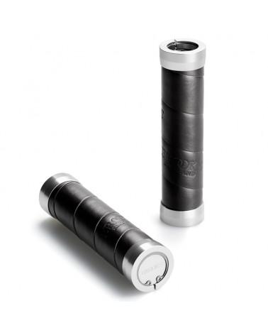 Brooks Slender Leather Grips 130mm, Black