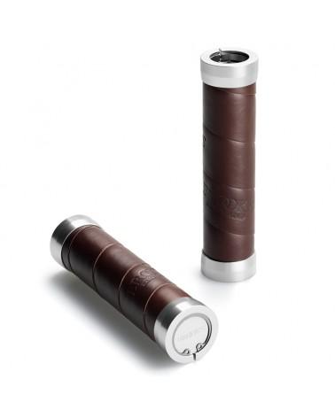Brooks Slender Leather Grips 130mm, Brown