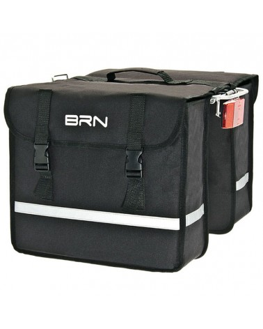 BRN Urban 25 Liters Rear Luggage Carrier Bicycle Bag, Black