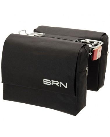 BRN Trendy 22 Liters Rear Luggage Carrier Bicycle Bag, Black