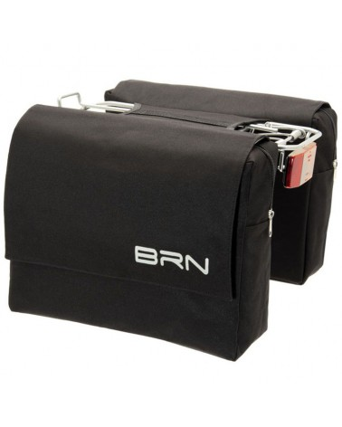 BRN Trendy 22 Liters Rear Luggage Carrier Bicycle Bag, Black