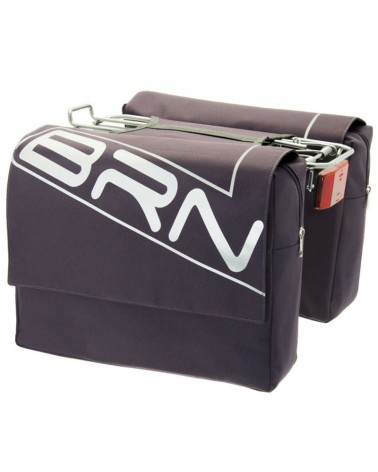 BRN Trendy 22 Liters Rear Luggage Carrier Bicycle Bag, Anthracite