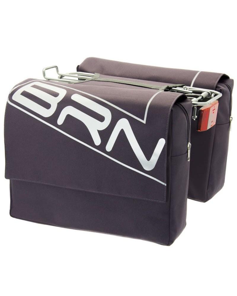 BRN Trendy 22 Liters Rear Luggage Carrier Bicycle Bag, Anthracite