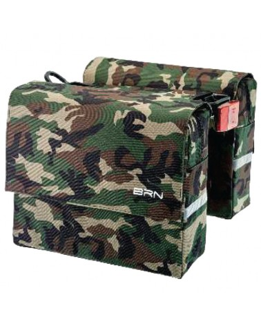BRN Trendy Military 22 Liters Rear Luggage Carrier Bicycle Bag, Classic Camo