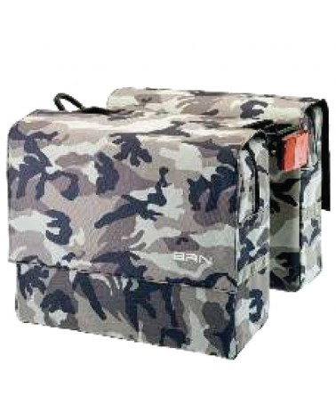 BRN Trendy Military 22 Liters Rear Luggage Carrier Bicycle Bag, Grey Camo