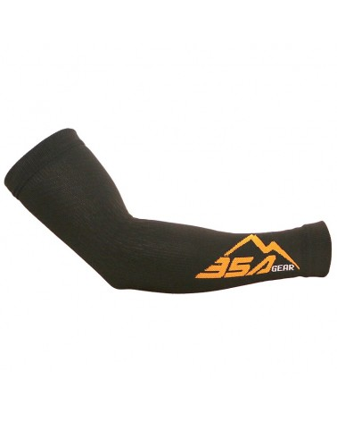 BSA Gear Manicotti a Compressione Ciclismo/Running, Nero, Made in Italy