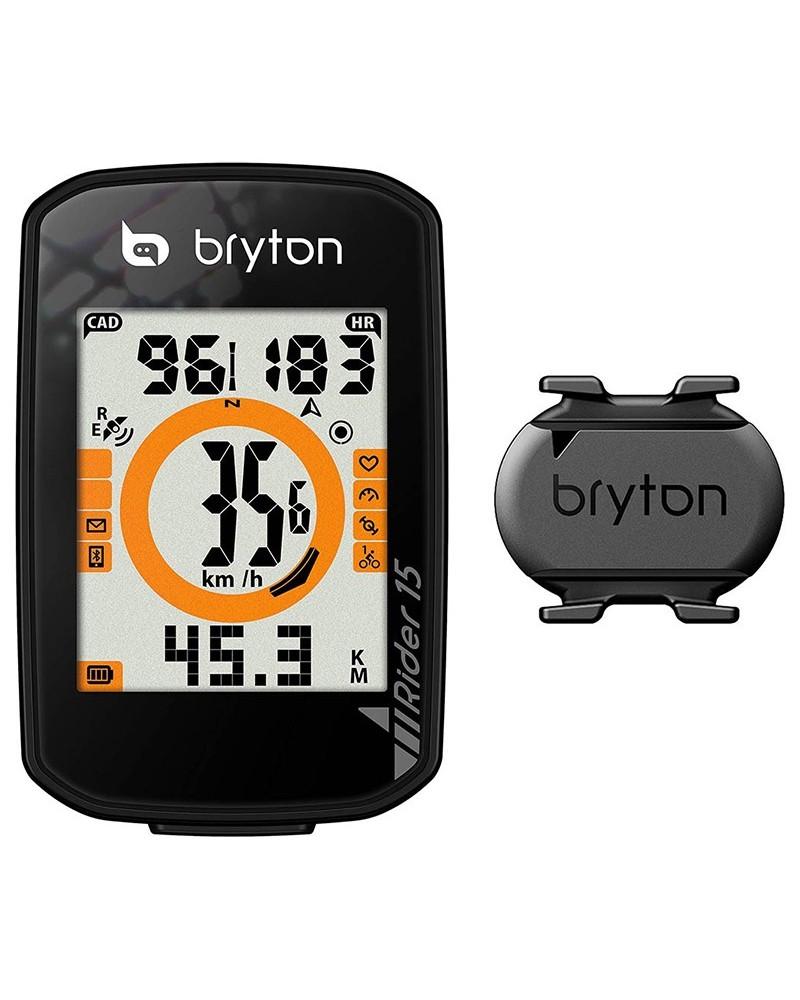 Bryton Rider 15C GPS Cycling Computer with Cadence Sensor, Black