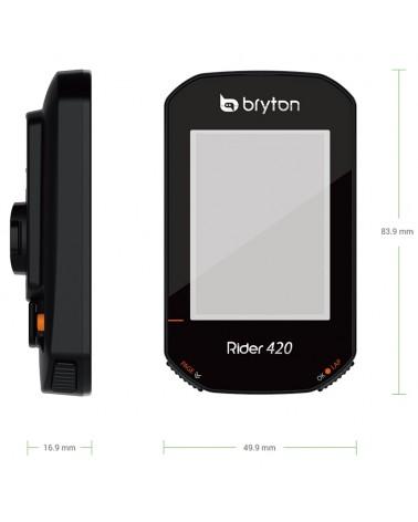 Bryton Rider 420E GPS Cycling Computer, Black