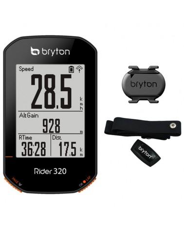 Bryton Rider 320T GPS Ciclocomputer + Fascia Cardio + Sensore Cadenza