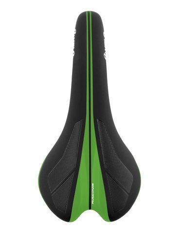 Velo Sella Velo Competition, Linea Senso, Modello 1376. Nero con Inserti Verde Glossy
