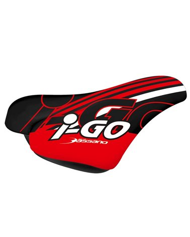 RMS Saddle For Boy, Model I-Go, Black And Red.