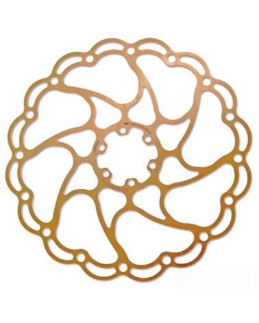 Alligator Rotor Aries Size 160mm, Gold Color