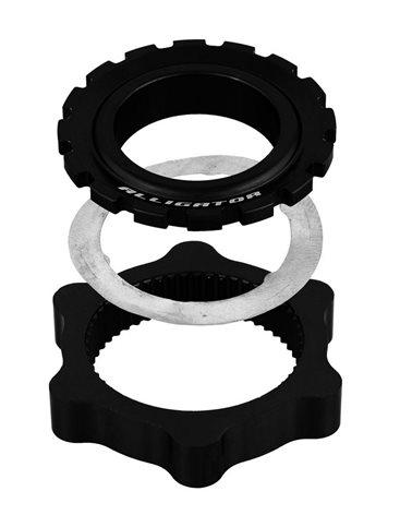 Alligator Centerlock Disc Brake Adapter, Black Nodized