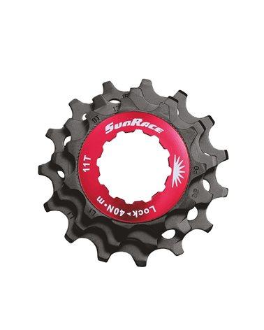 Sunrace Kit Lockring + 3 Sprockets (11-13-15) For 12 Speeds, Black