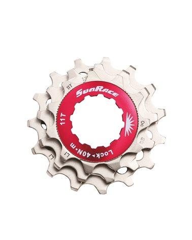 Sunrace Kit Lockring + 3 Sprockets (11-13-15) For 10 Speeds, Silver Color