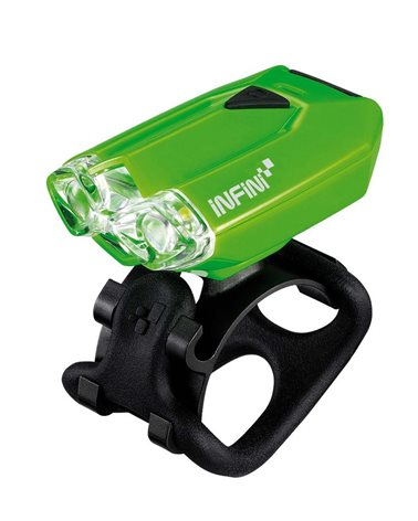 Infini Luce Anteriore Lava, 2 Led a Luce Bianca, Attacco USB Verde