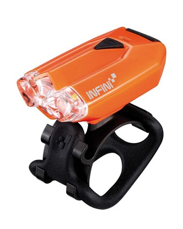 Infini Lava Front Light With 2 White Leds. USB Rechargeable. Orange Color