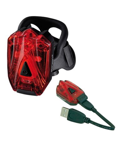 Infini Lava Rear Light With 3 Red Leds. USB Rechargeable. Red