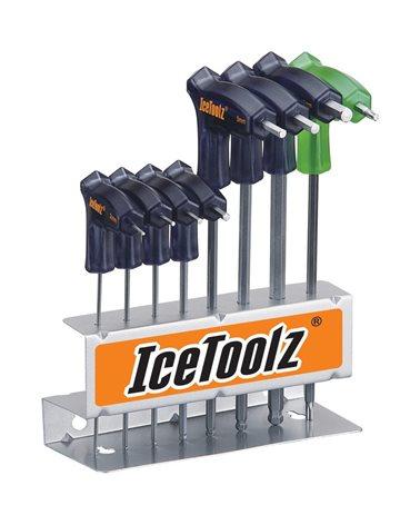 Icetoolz Set Chiavi a T: Brugole a T (2X2.5X3X4X5X6X8mm) e Chiave Torx T-25