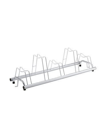 RMS Patented Bike Rack For 5 Bikes - Also For Disc Brakes Bikes, Silver Color.