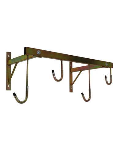 RMS Wall Bike Rack For 4 Bikes, Gold Color.