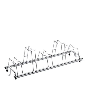 RMS Floor Bike Rack 5 Pos. Patented Suitable Also For Disc Brake Bicycles, Grey Color.