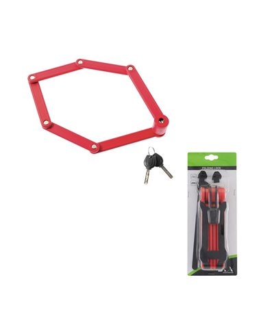 BTA Folding Lock 840mm Red With Bracket..