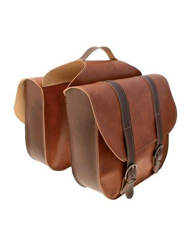 RMS Leatherlike Bike Side Bags, Brown
