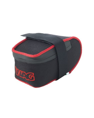 Wag Saddle Bag MTB Cordura, Black Colour With Red Insert