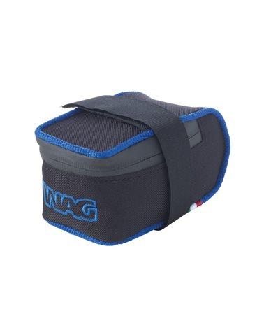 Wag Sottosella MTB Cordura 12X6, 5X6Cm, Nero con Inserto Blu