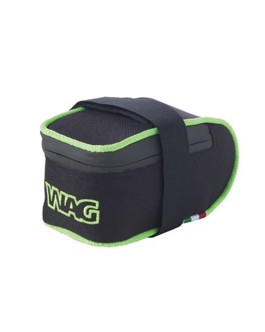 Wag Sottosella MTB Cordura 12X6, 5X6Cm, Nero con Inserto Verde Fluo