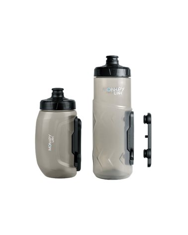 Monkeylink Waterbottle 600ml Transparent With Bottle Holder With Magnetic Attack