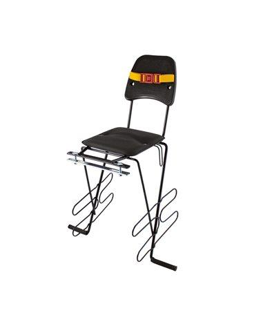 RMS Rear Child Bike Seat Piatto, Black, Rack Attachment