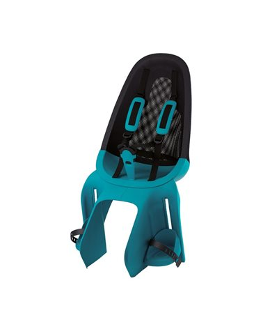 Qibbel Rear Child Seatpost, Fixed To The Carrier, Black/Turquoise Colors