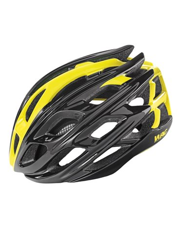 Wag Road Helmet For Adult Gt3000, In-Mould Size L, Black/Yellows.
