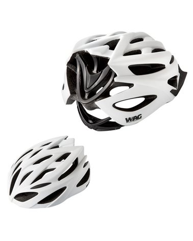 Wag Helmet For Adults Neutron, In-Mould, Size M, White And Black Colour