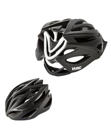 Wag Helmet For Adults Neutron, In-Mould, Size L, Black And White Colour