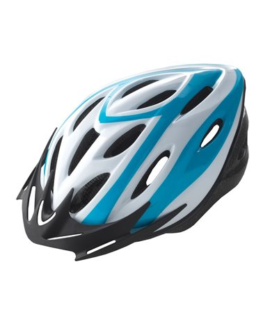 BTA Rider Helmet For Adult, Size M. White Withblue Graphic.