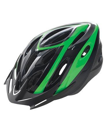 BTA Casco Rider, Calotta Out-Mould, Taglia M Nero con Grafica Verde