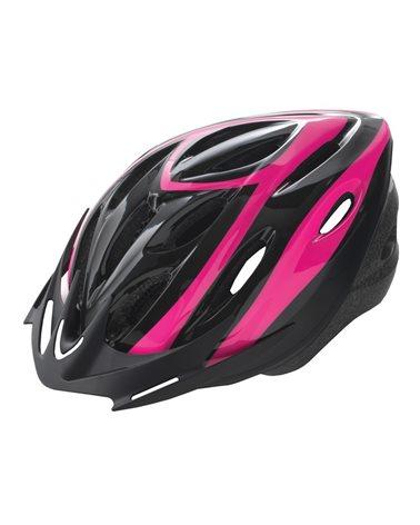 BTA Casco Rider, Calotta Out-Mould, Taglia M Nero con Grafica Rosa