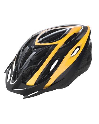 BTA Casco Rider, Calotta Out-Mould, Taglia L Nero con Grafica Gialla