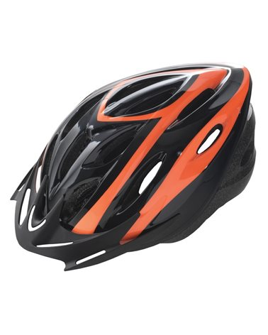 BTA Casco Rider, Calotta Out-Mould, Taglia L Nero con Grafica Arancio