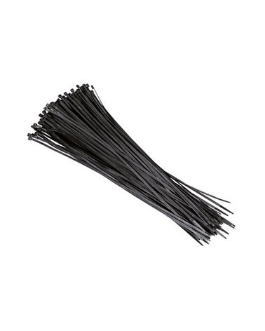 Artein Pack 100 Nylon Cable Ties (Pa6.6) 3.5X200mm Black Colour