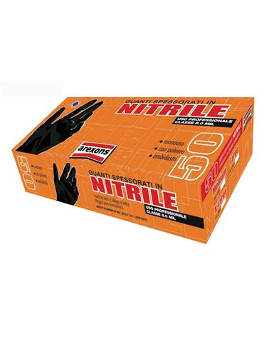 Arexons Pack 50 Pieces Thick Nitrile Gloves Medium Size