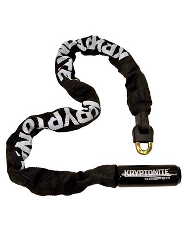 Kryptonite Keeper Integrated Chain; Diameter 7mm; Length 85Cm; Black;With 2Steel Keys Included.